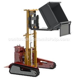 Benne basculante hydraulique Transpall ou chariot élévateur